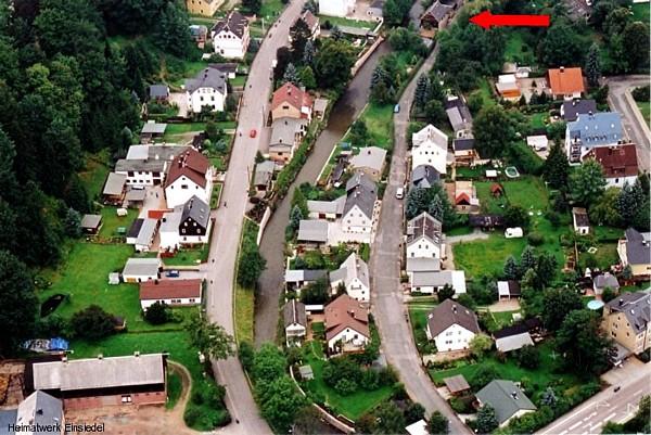Rosenstraße Einsiedel Luftbild 17.08.2005