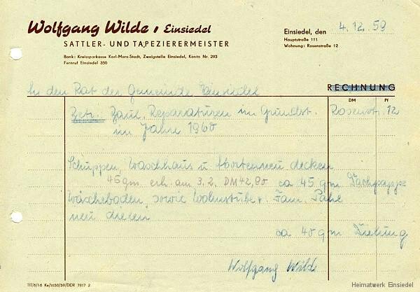 Wilde Anfrage Dachpappe und Dielung bei Gemeinde Einsiedel