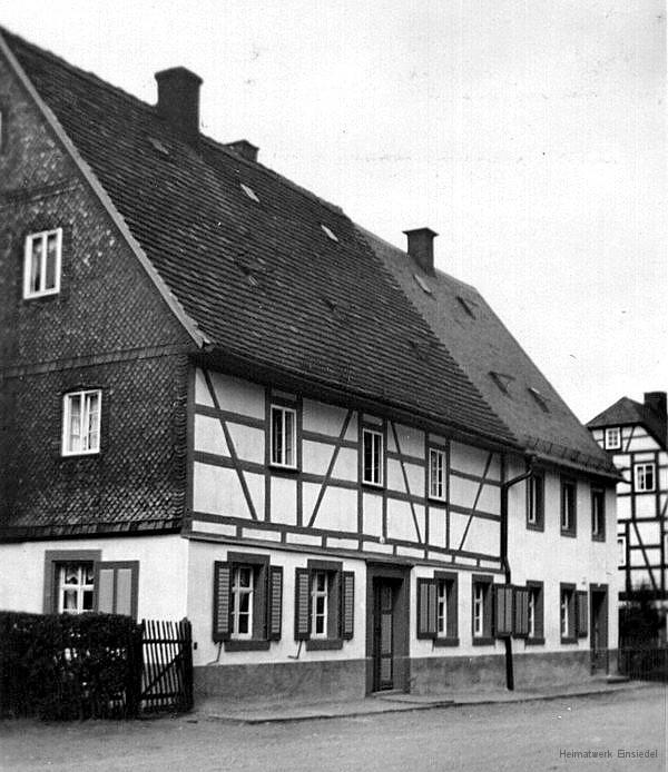 Einsiedel Rosenstraße 8 vor 1945