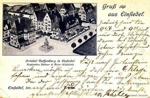 Einsiedel Rothenburg 1911