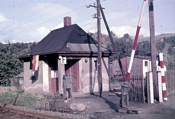 Schrankenposten 10 in Einsiedel am Schrebergartenweg 1967