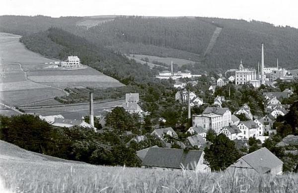 """1908 mit Etablissement """"Waldesrauschen"""" im Bau."""