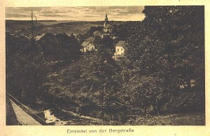 Blick von der Bergstraße in Einsiedel 1924