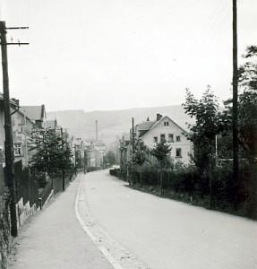 Berbisdorfer Straße in Einsiedel vor 1945