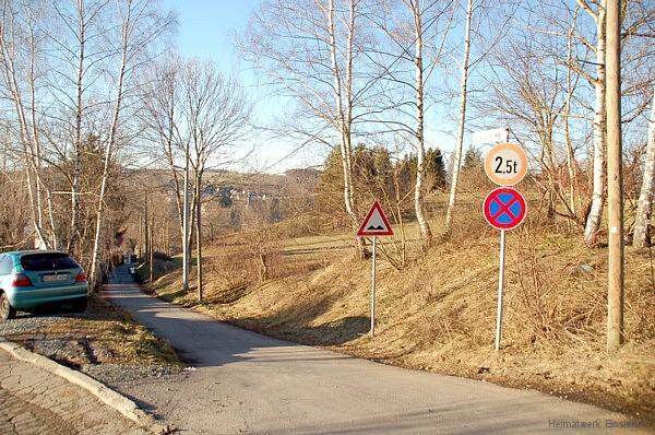 Dittersdorfer Weg Einmündung Schollstraße 16.1.11