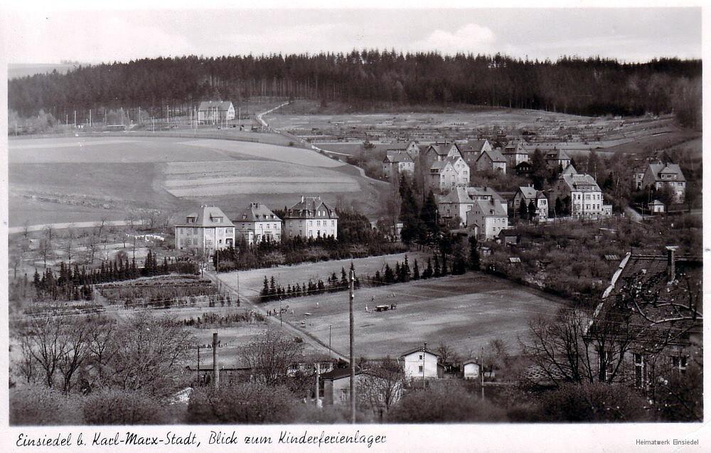 Dittersdorfer Straße mit Pionierlager Einsiedel