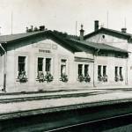 Der Einsiedler Bahnhof vor seiner Zerstörung 1945