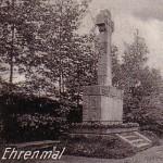 """Harthauer Weg - Neuer Friedhof Kriegerdenkmal """"Unseren Helden 1914-18"""""""