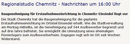 Screenshots vom 9. November nachmittags. Oben MDR 1 Radio Sachsen, rechts Radio Chemnitz.