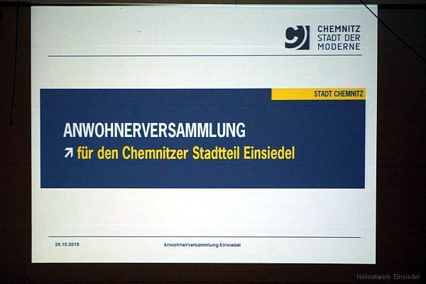 Anwohnerversammlung wegen Asyl in Einsiedel 29.10.15