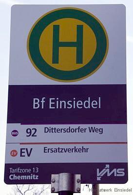 Sonderbuslinie 92 Schild