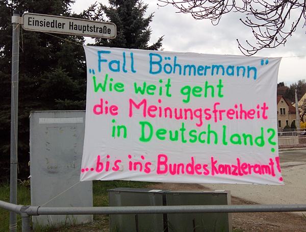Banner in Einsiedel 13.04.16