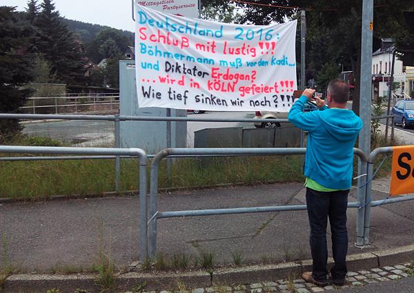 Banner in Einsiedel am 03.08.2016