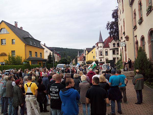 Kundgebung in Einsiedel am 03.08.2016