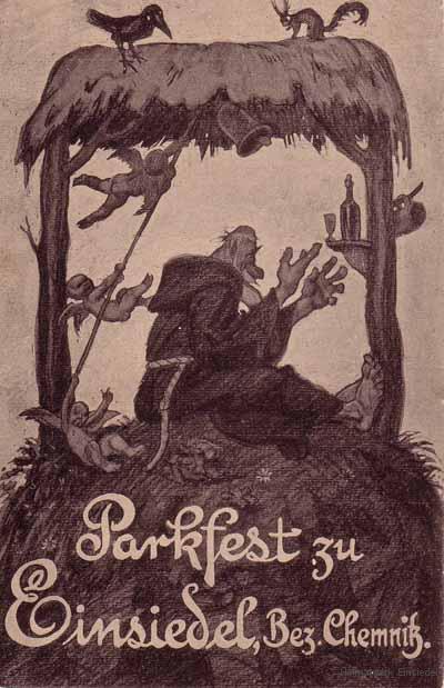 Parkfest Einsiedel historische Ansichtskarte
