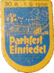 Eintrittsplakette 1958