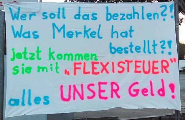 Banner in Einsiedel am 17.08.2016