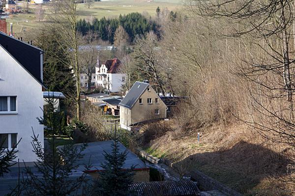 Talsperrengrund 1 von der oberen Kaskadenbrücke aus