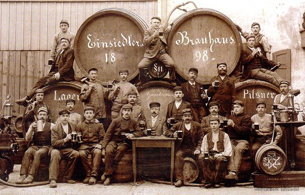 Belegschaft der Brauerei Schwalbe 1898