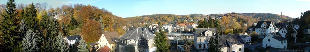 Dachfensterpanorama aus Berbisdorfer Straße 3 Herbst 2001
