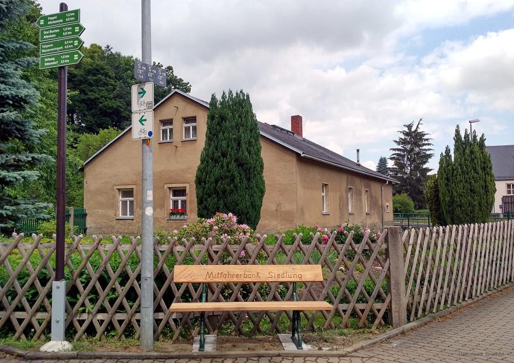 Mitfahrerbank Einsiedel Siedlung