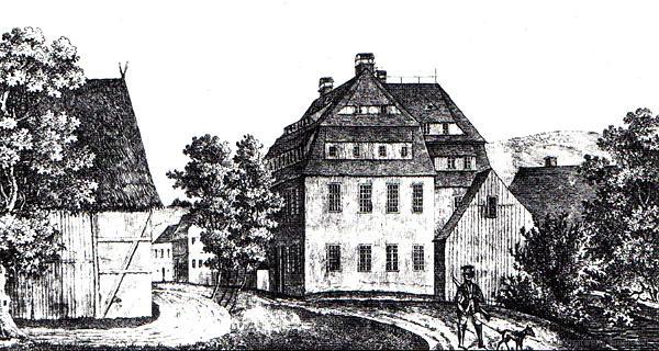 Mittelmühle Einsiedel um 1840