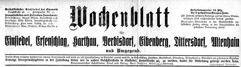 Wochenblatt für Einsiedel über die Winterrodelbahn