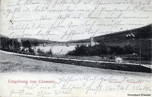 Talsperre Einsiedel 1907