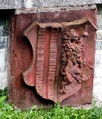 Chemnitzer Stadtwappen an der Staumauer der Talsperre Einsiedel