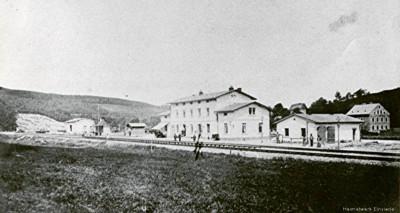 Bahnhof Einsiedel vor 1900
