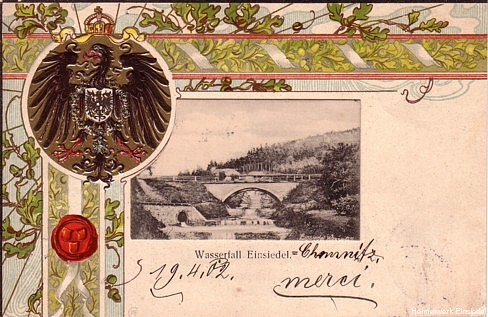 Wasserfall Einsiedel 1902