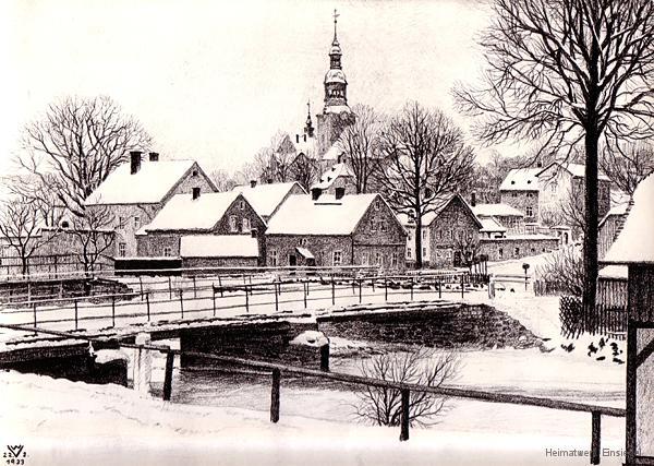 Zeichnung von Walter Viertel, 22. Februar 1933