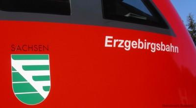 Zugbeschriftung Erzgebirgsbahn