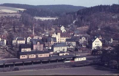 Bahnhof Einsiedel ohne Gebäude 1954