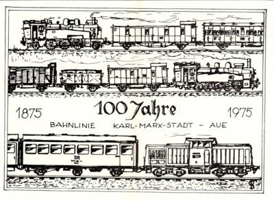 100 Jahre Strecke Chemnitz - Aue, Schmuckpostkarte
