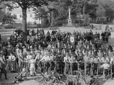 Radfahrverein Einsiedel Am Plan um 1910
