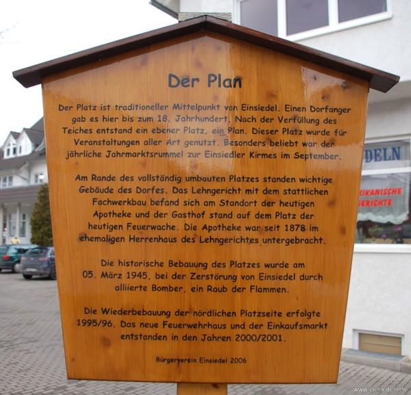 Der Plan - Schild des Bürgervereins Einsiedel
