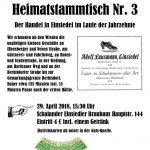 Heimatstammtisch Einsiedel Nr. 3 am 29.04.2018