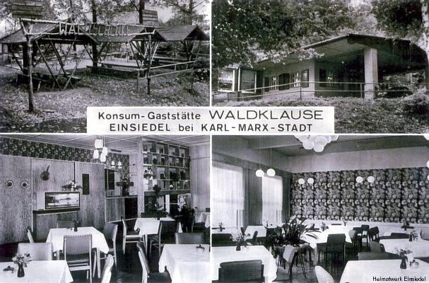 Waldklause Einsiedel Ansichtspostkarte
