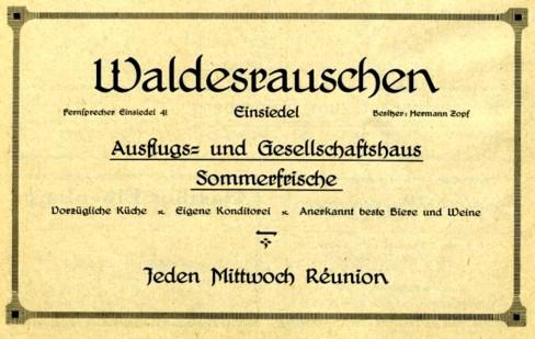 Werbeanzeige aus dem Adressbuch 1926/27