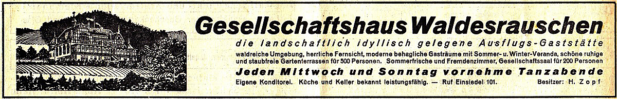 Werbung Waldesrauschen im Chemnitzer Tageblatt 1936