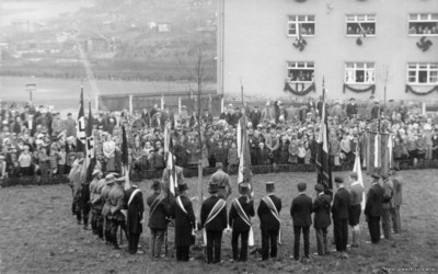 Pflanzung der Adolf-Hitler-Eiche in Einsiedel 1933