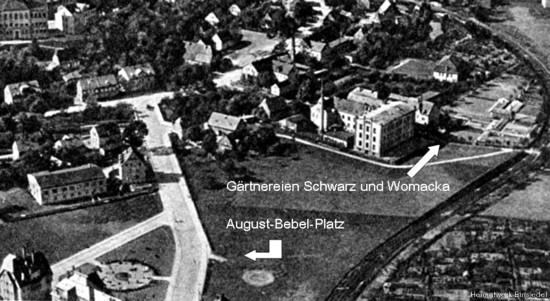 August-Bebel-Platz Einsiedel 1927