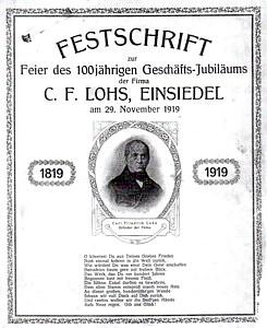 Festschrift 100 Jahre Strumpffabrik C.F. Lohs