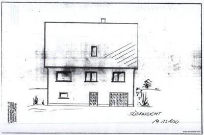 Bauzeichnung Einfamilienhaus 1989
