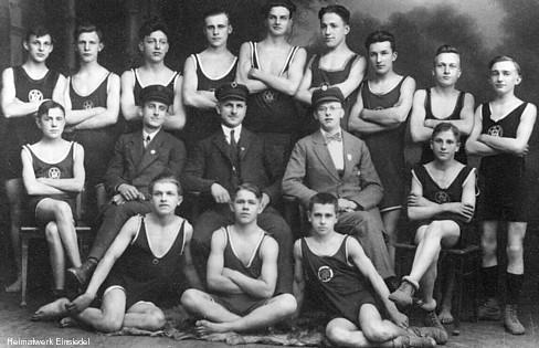 Schwimmverein Einsiedel Ende der 1920er Jahre