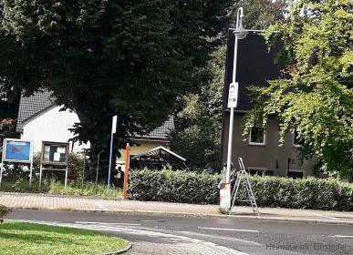 Abriss von AfD-Wahlplakaten in Einsiedel
