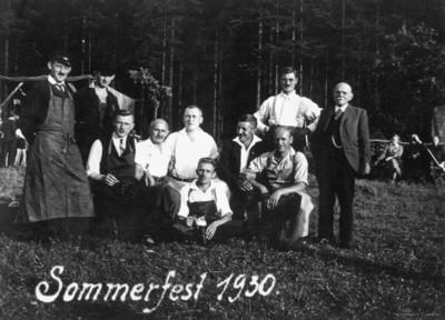 Turnverein Einsiedel Sommerfest 1930