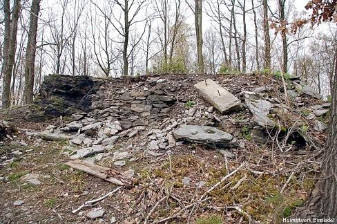 Reste der Aussichtsplattform 2008