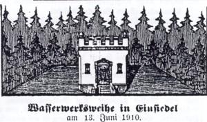 Wasserwerksweihe Einsiedel 1910